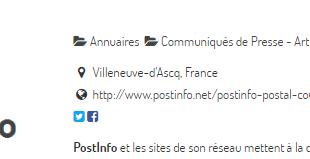 PostInfo : annuaire internet et communiqués de presse