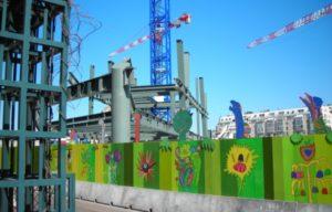 barrière de ville pour sécuriser les chantiers