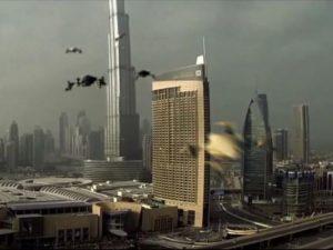 Expérience de taxi drones à Dubai