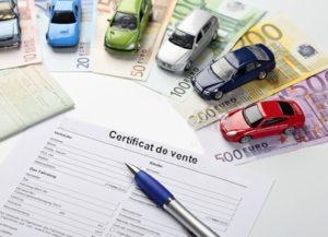 Reprise d'une voiture accidentée. Certificat de vente.