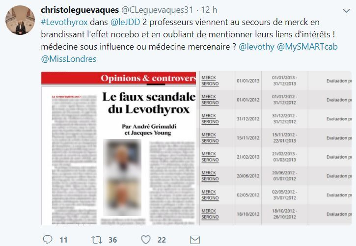 Scandale du Levothyrox®.