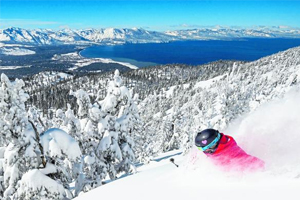 La station de ski Heavenly Lake Tahoe aux États-Unis.