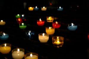 bougies ambiance romantique led