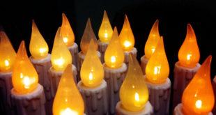 technologie led bougies romantiques